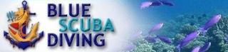 blue scuba diving