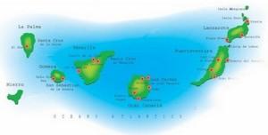 Cartina canarie